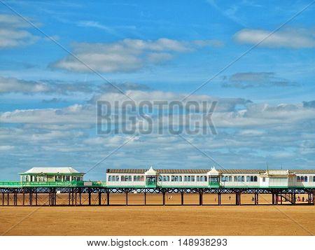 St Annes Pier  in summer in Lancashire UK