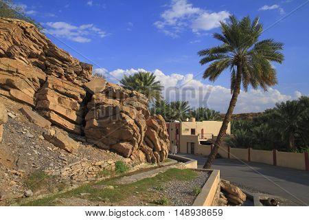 Falaj in Birkat Al-Mawz in Sultanate of Oman.