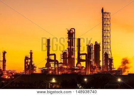The Light oil refinery Beautiful dawn industrial area