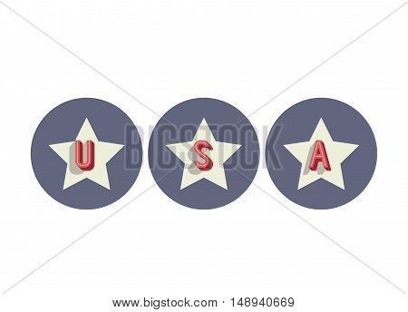 star usa and Labor day icon. Patriotism Party festival and national theme. Colorful design. Vector illustration