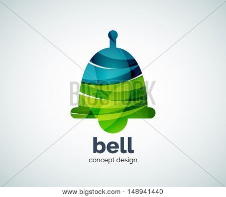 Christmas bell logo template, abstract business icon