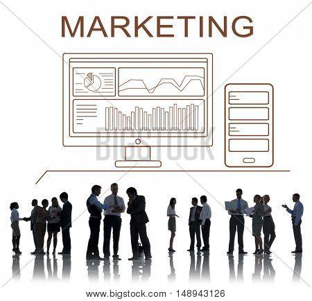 Marketing Progress Summary Analytics Computer Concept