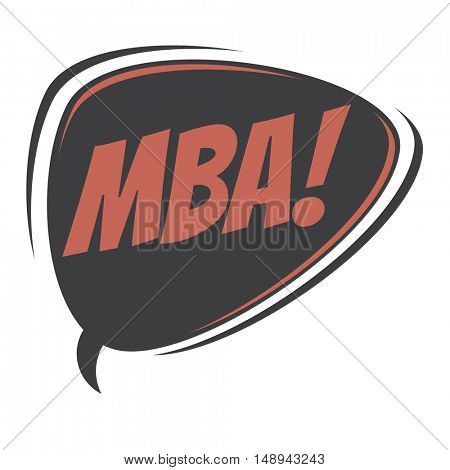 mba retro speech balloon