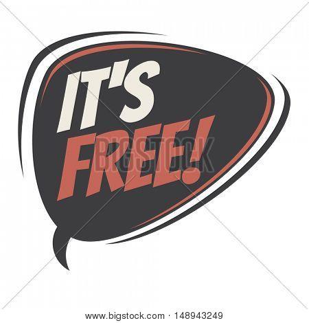 it's free retro speech balloon