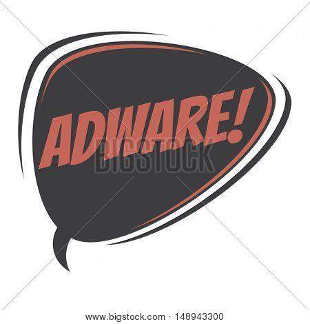 adware retro speech balloon