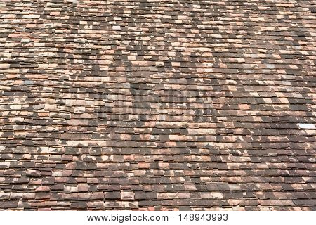 image of old wooden roof texture .