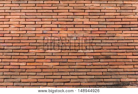 Red Brick Wall Texture Grunge Background .
