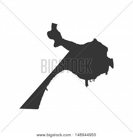 Belize map silhouette illustration on the white background. Vector illustration