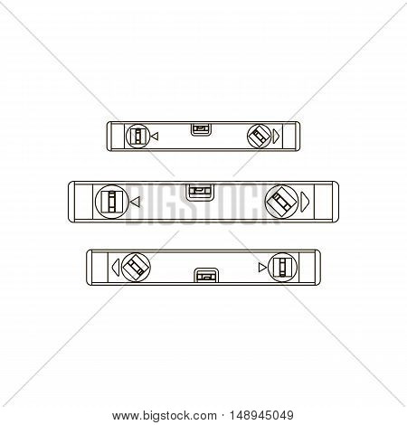 Building levels illustration on the white background. Vector illustration