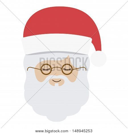 Santa icon. Merry Christmas season and decoration theme. Isolated design. Vector illustration
