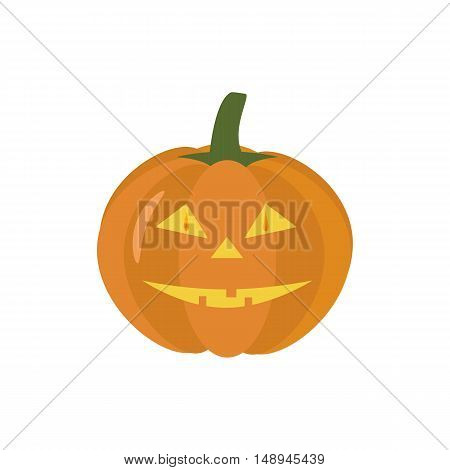 Jack-o-lantern pumpkin halloween on the white background. Vector illustration