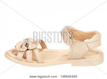 Elegant flat shoes isolated on white background