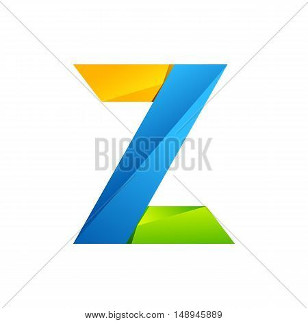 Z letter one line colorful logo. Vector design template elements an icon for your application or company