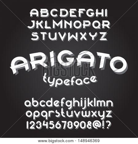 Custom typeface. Round font set. Vector alphabet