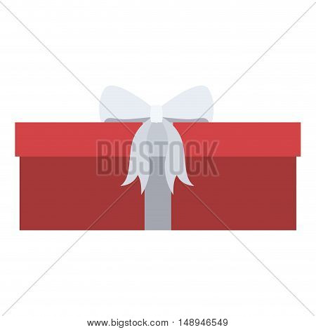 Gift icon. Merry Christmas season and decoration theme. Isolated design. Vector illustration