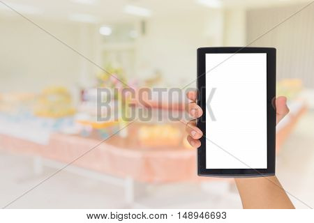 Phone And Blur Buffet Catering Room .