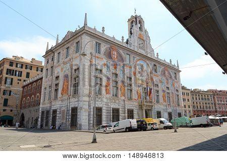 Palace Palazzo San Giorgio near Porto Antico Genoa Italy
