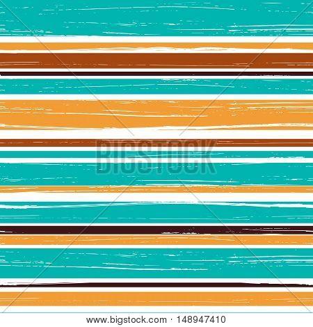 Seamless pattern of horizontal brush strokes. Grungy seamless texture. Vector illustration.
