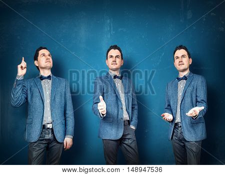 Businessmen In Blue Suit