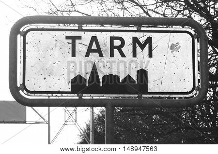 Tarm City Sign In Denmark