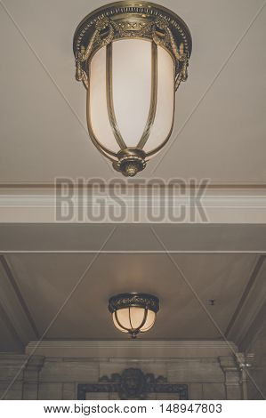 Luxurious Lamps At The Ceiling