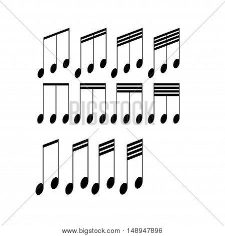 Musical symbols on a white background. Vector illustration