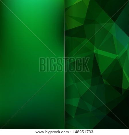 Abstract Background Consisting Of Green Triangles. Geometric Design For Business Presentations Or We