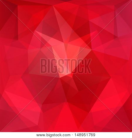 Polygonal Red Vector Background. Can Be Used In Cover Design, Book Design, Website Background. Vecto