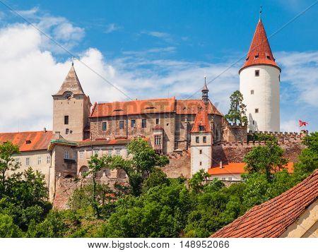 Krivoklat Castle. Medieval royal castle in Central Bohemia, Czech Republic