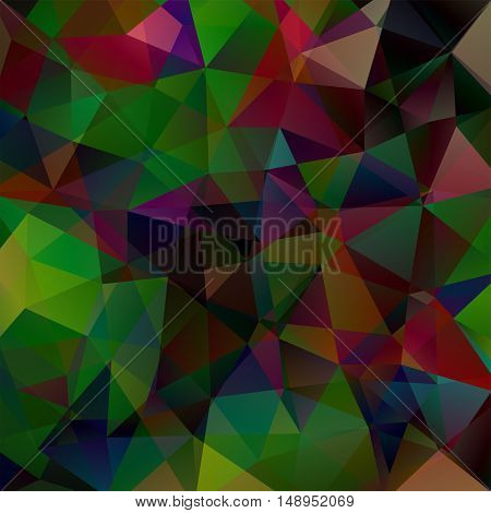 Abstract Geometric Style Dark Background. Vector Illustration