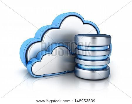 Cloud storage and database (done in 3d rendering)