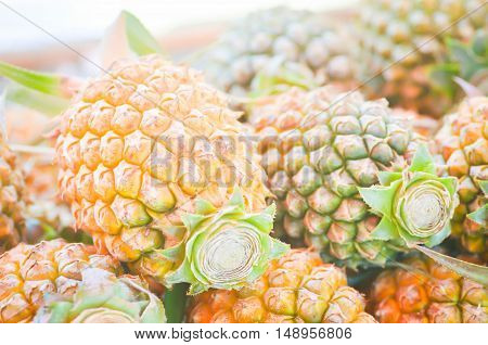 pile of pineapple for sale in the market