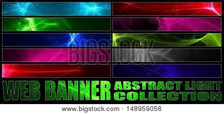 full web banner abstract light collection. standard size for full banner or leaderboard.