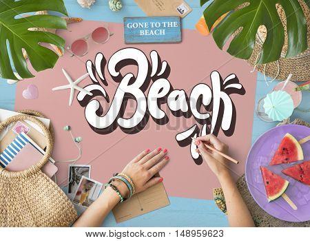 Beach Vocation Enjoy Holidays Summer Concept