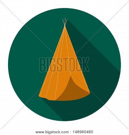 Wigwam icon flat. Singe western icon from the wild west flat.