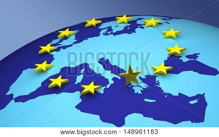 European Union 3D finance euro europe economic