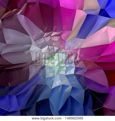 Abstract coloring background of the skyline gradient with visual lighting,cubism and mosaic effects.Good for your project design