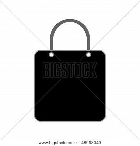 Shopping bag symbol icon on white background. Vector illustration.
