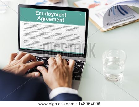 Employment Agreement Form Policy Concept
