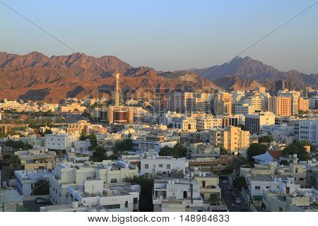 View over Muscat The capital of Oman.