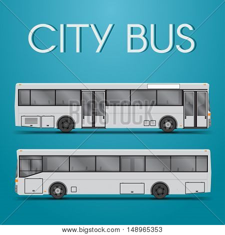City bus with two sides in the vector