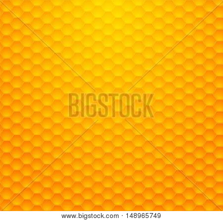 Background - Pattern in the form of a yellow honeycomb with a gradient vector