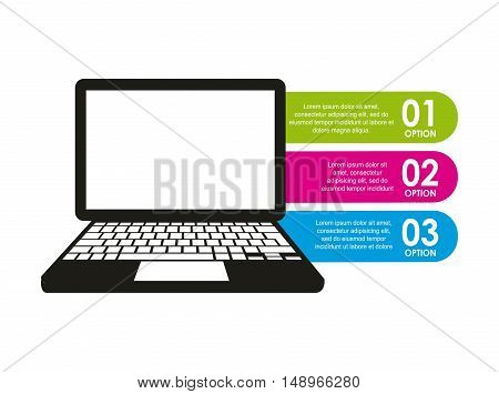 device electronic infographic icon vector illustration design