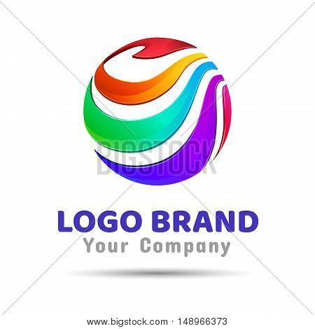 colorful circle creative concept Vector Template Color Logo. Creative abstract design illustration. Template for your business company.