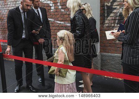 Fashionable People During Milan Fashion Week