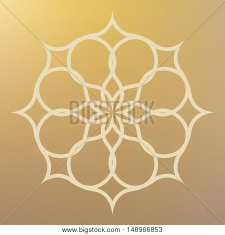 Abstract pattern illustration in arabian style. Vector illustration.