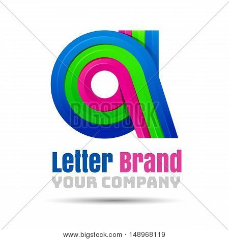 A Letter Logo Icon Element. Vector design illustration. Template for your business company. Creative abstract colorful concept.