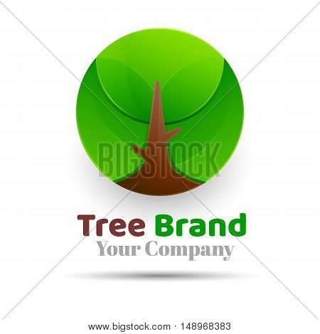 Tree Logo abstract design vector template Eco Green Organic Oak Plant Logotype Creative concept icon illustration for your business company.