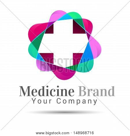 Plus sign medical healthcare logo template. Vector design illustration for your business company. Creative abstract colorful concept.