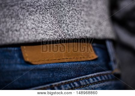 Men Jeans, Rear View Closeup